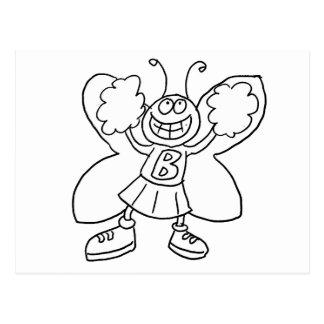 Cartão Postal Cheerleader da borboleta