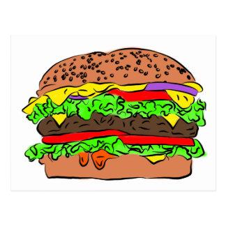 Cartão Postal Cheeseburger