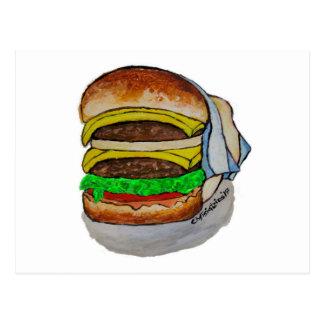 Cartão Postal Cheeseburger dobro