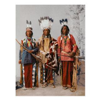 Cartão Postal Chefes Garfield Ouche Te Foya 1899 de Apache