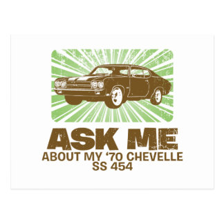 Cartão Postal Chevrolet 1970 Chevelle SS 454