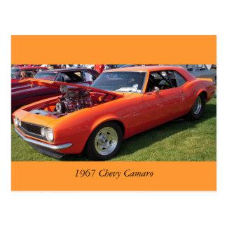 Cartão Postal Chevy 1967 Camaro