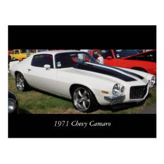 Cartão Postal Chevy 1971 Camaro