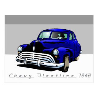 Cartão Postal Chevy Fleetline 1948
