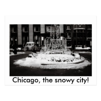 Cartão Postal Chicago, a cidade nevado!
