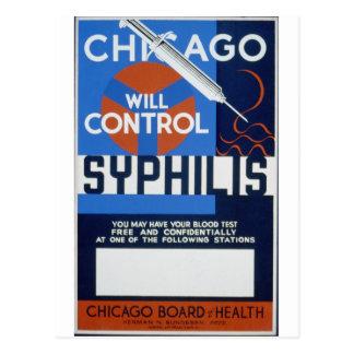 Cartão Postal Chicago controlará a sífilis