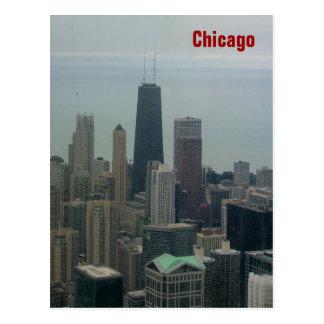 Cartão Postal Chicago e Lago Michigan