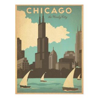 Cartão Postal Chicago, IL - cidade ventosa