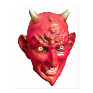 Cartão Postal Chifres do inferno do demónio da satã do diabo