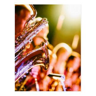 Cartão Postal Chifres dos saxofones dos instrumentos musicais da