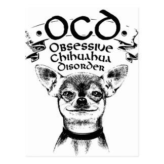 Cartão Postal Chihuahua obsessiva de OCD