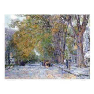 Cartão Postal Childe Hassam - rua principal Hampton do leste