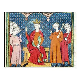 Cartão Postal Childeric II, rei de Merovingian de Austrasia