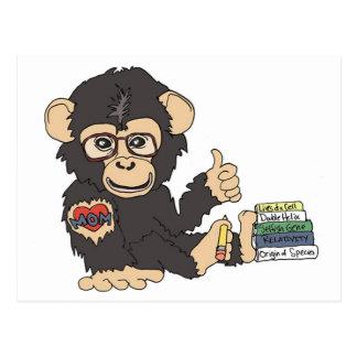 Cartão Postal Chimpanzé do geek