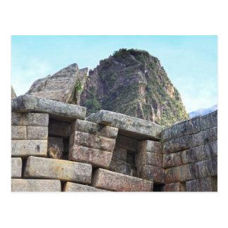 Cartão Postal Chinchila em Machu Picchu, Peru