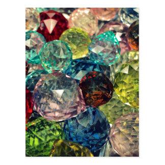 Cartão Postal Chique de Boho: Miçanga de vidro colorida