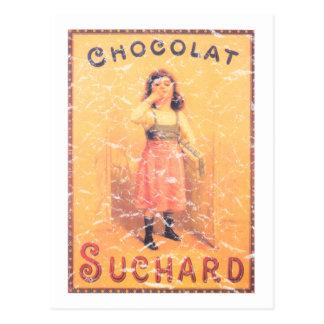 Cartão Postal Chocolate de Suchard afligido