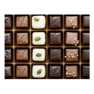 Cartão Postal Chocolate luxuoso Handmade em uma caixa