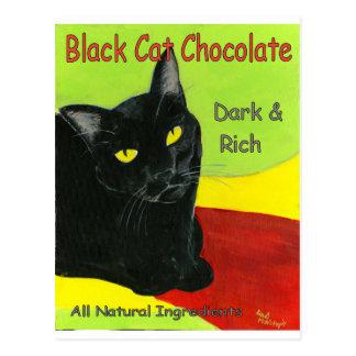 Cartão Postal Chocolate, obscuridade e ricos do gato preto