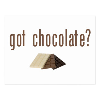 Cartão Postal Chocolate obtido? (w/bars)