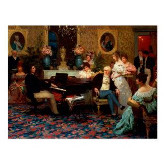 Cartão Postal Chopin que joga o piano