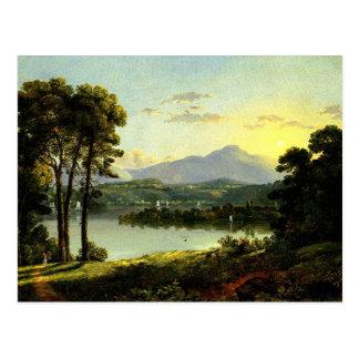 Cartão Postal Christopher Cranch - vista no Hudson
