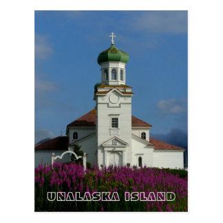 Cartão Postal Church~ ortodoxo russo Unalaska, AK