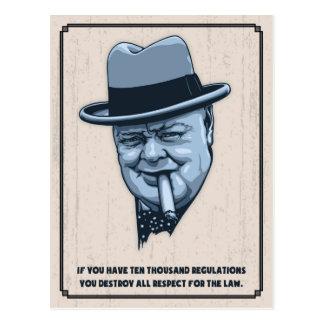 Cartão Postal Churchill - leis