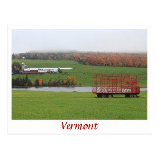 Cartão Postal Chuva de outubro da fazenda de Vermont