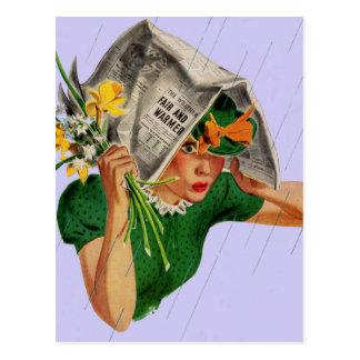 Cartão Postal chuva não na previsão