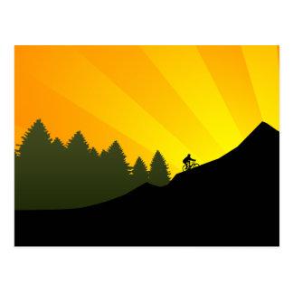 Cartão Postal ciclagem: rayz da montanha: