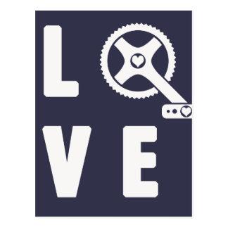 Cartão Postal Ciclismo do amor
