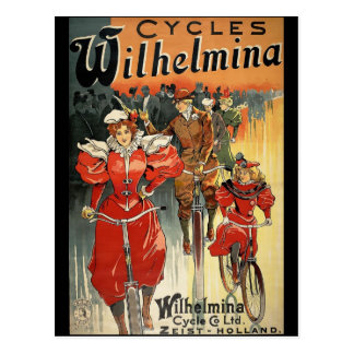 Cartão Postal Ciclo de Wilhelmina & Co. Ltd. Zeist-Holland