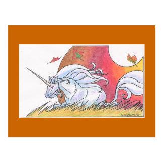 Cartão Postal Ciclo do unicórnio - outono ©1999