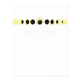 Cartão Postal Ciclo total do eclipse solar