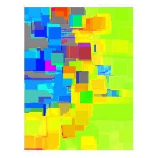 """Cartão Postal """"Cidade arte geométrica no céu"""""""
