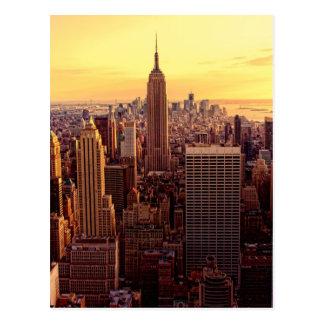Cartão Postal Cidade da skyline de New York com estado do