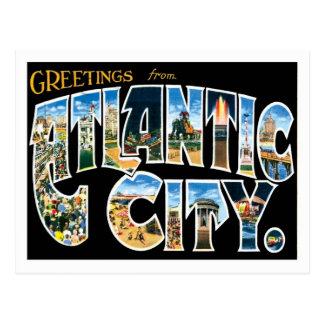 Cartão Postal Cidade de Atlantic City New-jersey E.U.