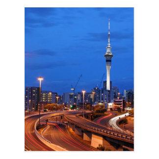 Cartão Postal Cidade de Auckland no crepúsculo