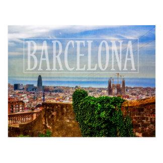Cartão Postal Cidade de Barcelona