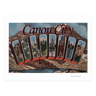 Cartão Postal Cidade de Canon, Colorado - grandes cenas da letra
