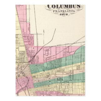 Cartão Postal Cidade de Columbo, o Condado de Franklin, Ohio