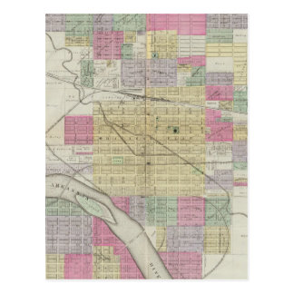 Cartão Postal Cidade de Hutchinson, Reno County, Kansas