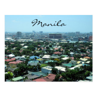 Cartão Postal cidade de manila