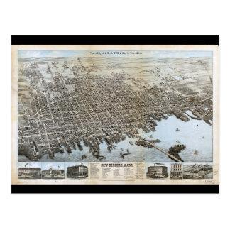Cartão Postal Cidade de New Bedford Massachusetts (1876)
