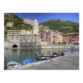 Cartão Postal Cidade do montanhês de Vernazza, Cinque Terre,