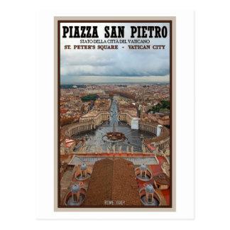 Cartão Postal Cidade do Vaticano - vista da basílica de St Peter