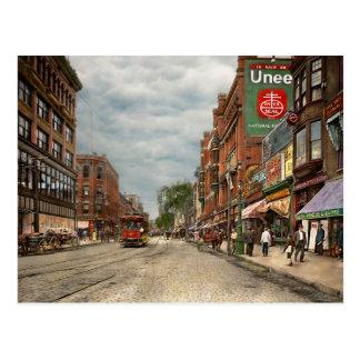 Cartão Postal Cidade - MÃES de Lowell - uma boa empresa 1908 da