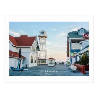 Cartão Postal Cidade Maryland. do oceano
