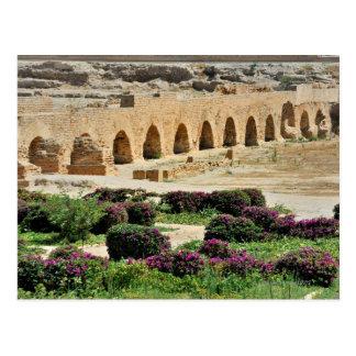 Cartão Postal Cidade Punic antiga de Carthage, destruída e